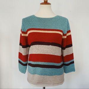 Pendleton Striped 3/4 Length Sleeve Top